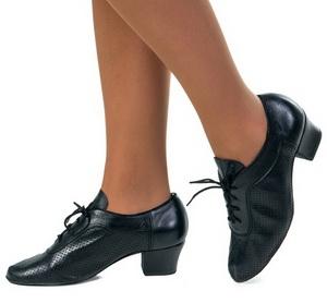 Туфли бальные тренировочные перфорированные