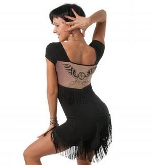 Платье латина с принтом