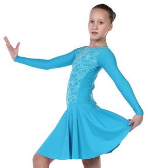 Платье рейтинговое, длинный рукав, юбка солнце